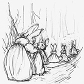 Beatrix Potter, 'Preliminary sketch for The Tale of Peter Rabbit'