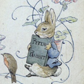 Beatrix Potter, 'Endpaper design in watercolour (1903)' © Frederick Warne & Co. 2006