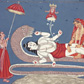 'Vishnu reclining on the serpent Ananta', painting