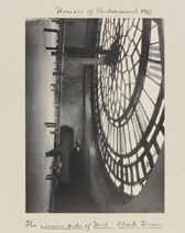 Sir Benjamin Stone, 'Houses of Parliament 1897 The inner side of Dial. Clock Tower.'