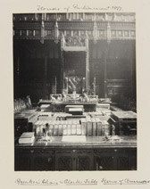 Sir Benjamin Stone, 'Houses of Parliament 1897. Speaker's Chair and Clerks table. House of Commons.'