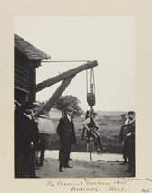 "Sir Benjamin Stone, 'The Ancient ""Ducking Stool"". Fordwich. Kent. 1906'. Museum no. E.2941-2000"