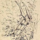 Beatrix Potter, 'Sketch of a stile'