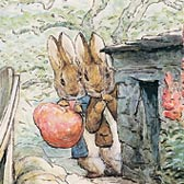 Beatrix Potter, 'Peter and Benjamin see the cat'