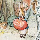 Beatrix Potter, 'Peter Rabbit hearing noises'