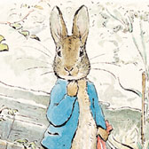 Beatrix Potter, 'Peter letting go of red handkerchief'