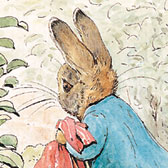 Beatrix Potter, 'Peter Rabbit carrying onions home'