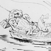 Beatrix Potter, 'A frog he would a-fishing go'