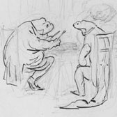 Beatrix Potter, 'Study for The tale of Mr. Jeremy Fisher'