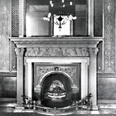 Chimneypiece in the main drawing room, Lichfield house