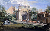View of the Arch of the Sergii at Pola, James Stuart