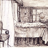 Beatrix Potter, 'Bedroom interior at Camfield Place