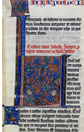 Leaf from the Teutonic Knights' Bible, about 1300. Museum no. 9036.E