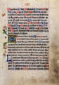 Leaf from a missal (Mass service book), 15th century. Museum no. 241.5