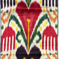 Ikat length with heart shapes and 'hamsa' design. Museum no. 2150A (IS)