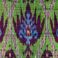 Ikat length with blue and purple design. Museum no. IS.1366-1883
