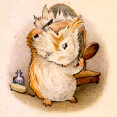 Beatrix Potter, Illustration of 'The Amiable Guinea-pig' for Appley Dapply's Nursery Rhymes