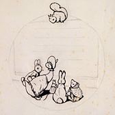 Back cover design for Peter Rabbit's Painting Book, 1911