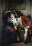 'My Uncle Toby and the Widow Wadman', oil on canvas by Charles Robert Leslie, Great Britain, 1831. Museum no. FA.113 Given by John Sheepshanks, 1857