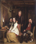 'The Refusal', oil on panel by David Wilkie, Great Britain, 1814. Museum no. FA.226 Given by John Sheepshanks, 1857