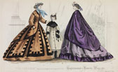 Fashion plate, day dresses