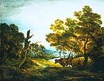 A Wooded Landscape with a Herdsman and Two CowsThomas Gainsborough (1727-1788)