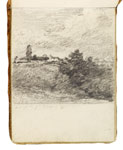 Landscape with a church. Constable Sketchbook