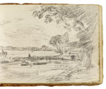 View on the Stour (?). Constable Sketchbook