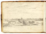 View from Golding Constable's house. Constable Sketchbook