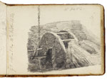 A water-wheel. Constable Sketchbook