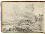 View on the Stour near Dedham. Constable Sketchbook