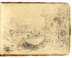 Study for 'Boat-building'. Constable Sketchbook