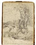 Towpath near Flatford Mill. Constable Sketchbook
