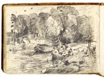 View on the Stour. Constable Sketchbook
