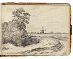 Landscape with windmill. Constable Sketchbook