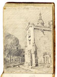East Bergholt Church. Constable Sketchbook