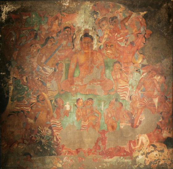 Buddhist pilgrimage sites india victoria and albert museum for Ajanta mural painting