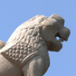 Lion on northern gateway, Sanchi