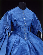Day dress of moiré silk, about 1858. Museum no. T.90&A-1964