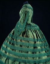 Promenade dress of silk plush with fringing, designer unknown