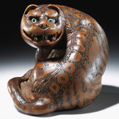 Netsuke of a Tiger