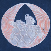 Textile with a tortoise design
