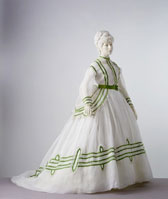 Cotton muslin daydress with lace and embroidery, designer unknown