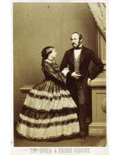 'Carte de visite' (visiting card) photograph of Queen Victoria and Prince Albert, John J.E. Mayall