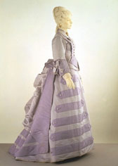 Corded silk afternoon dress, designer unknown