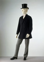 Double-breasted frock coat, designer unknown