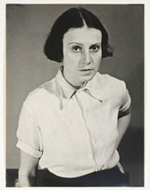 Photograph of Ilse Bing, self-portrait