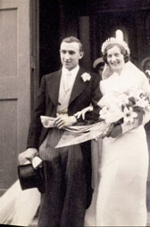 Wedding photograph, about 1935. Museum no. T.212:1-4-1996