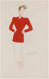 Design for a suit, Marjorie Field