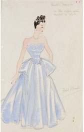 Design for an evening dress, Marjorie Field